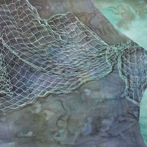 """More Space Than Matter"" Watercolor,ink,gouacheonpaper 110x212cm,2012"